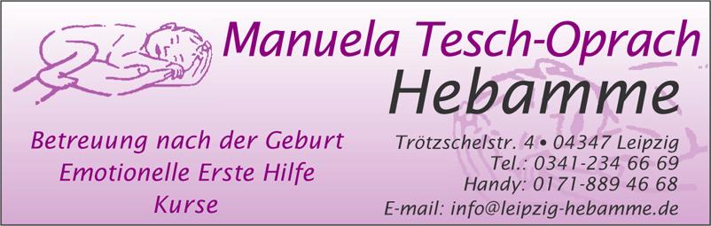 Hebamme und Fachberaterin für EEH Manuela Tesch-Oprach